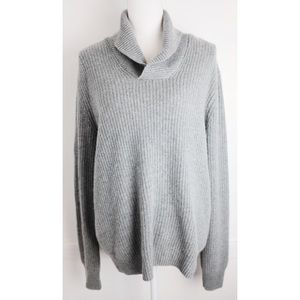 Saks Fifth Avenue • Grey Knit Cashmere Sweater